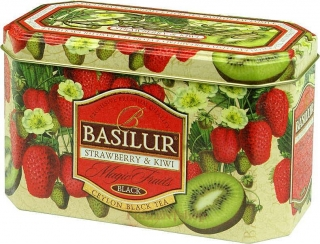 BASILUR Magic Strawberry & Kiwi plech 20x2g
